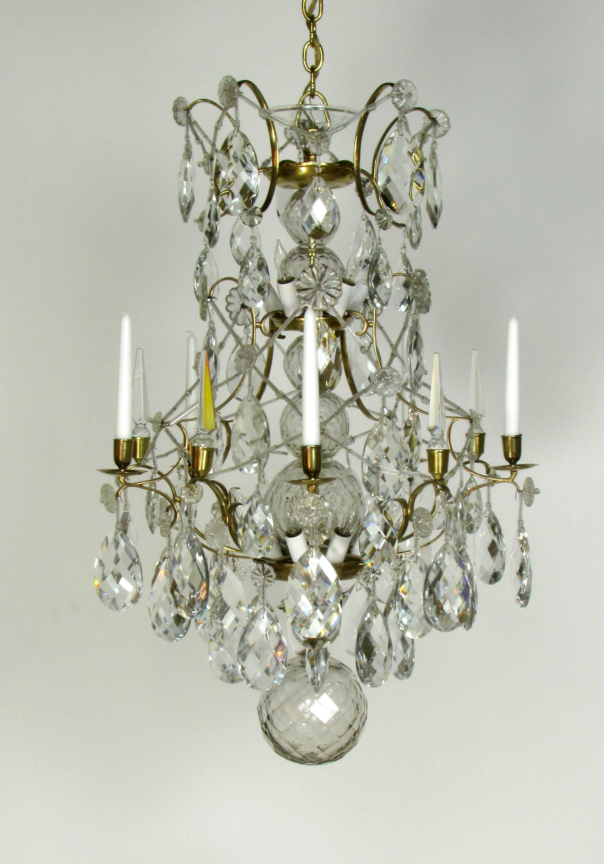 Early Crystal Chandelier Appleton Antique Lighting