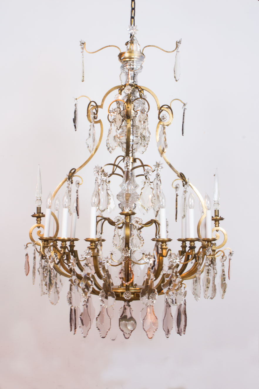 Gilt Bronze And Crystal French Chandelier Appleton