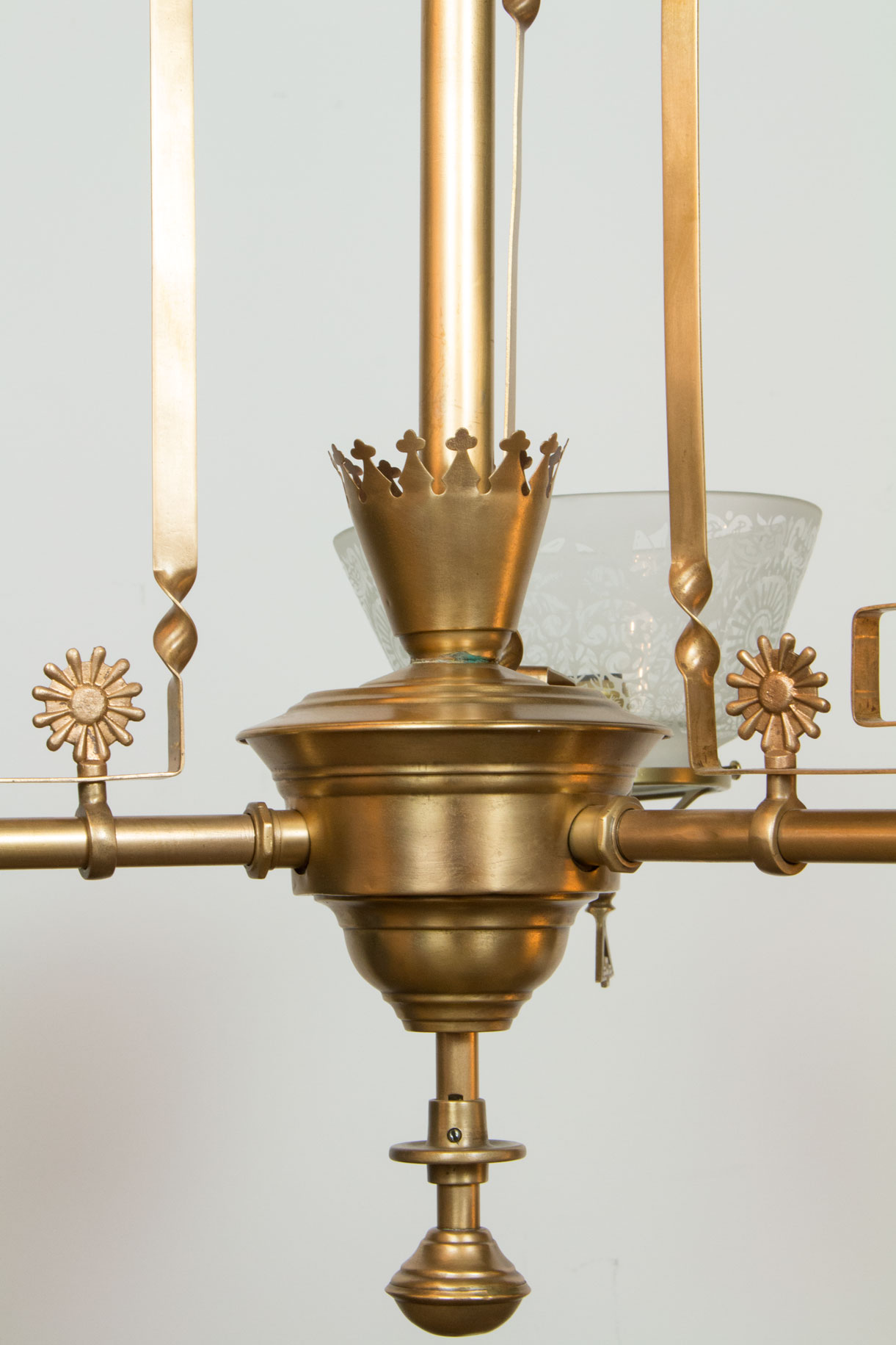 Three Light Aesthetic Movement Chandelier Appleton