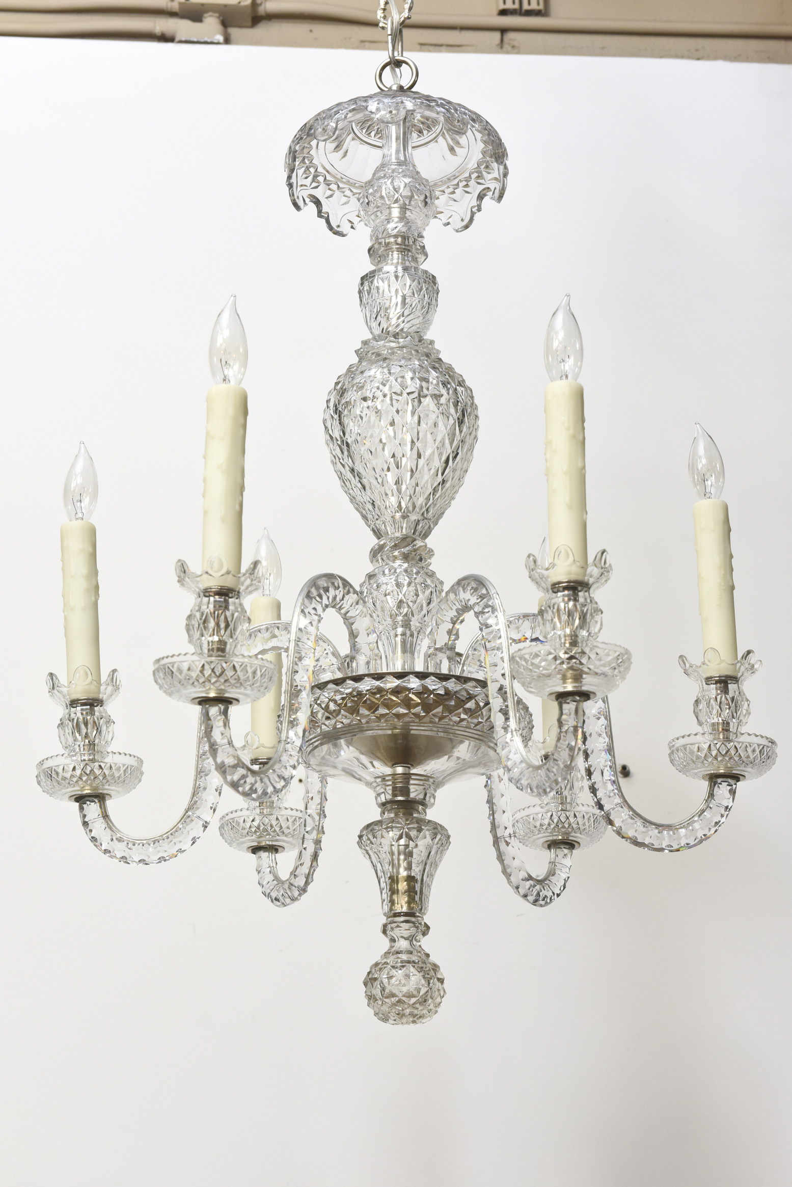 Six arm early waterford chandelier appleton antique lighting 11i arubaitofo Image collections