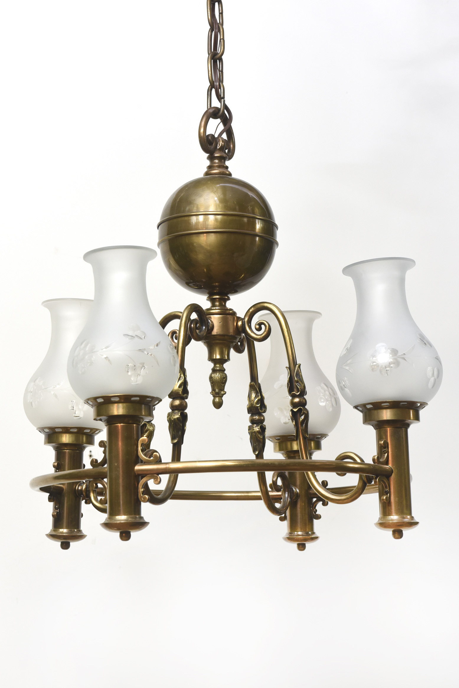 Four Light Colonial Revival Chandelier