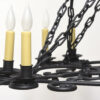 Wrought Iron Oblong Candle Chandelier Appleton Antique