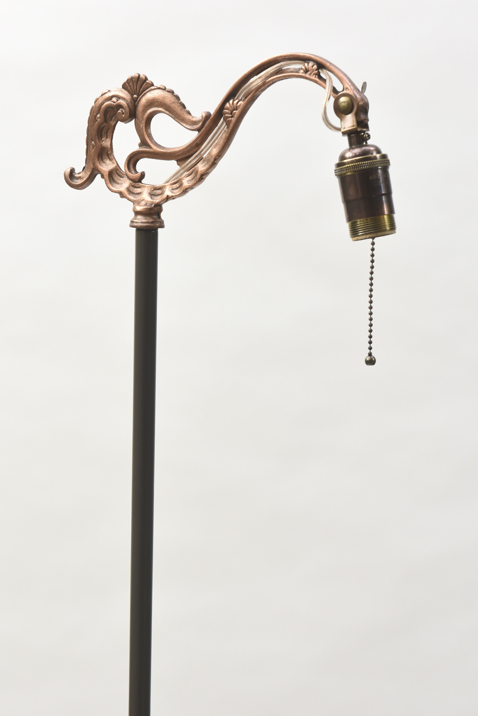 Copper And Painted Metal Bridge Lamp Appleton Antique