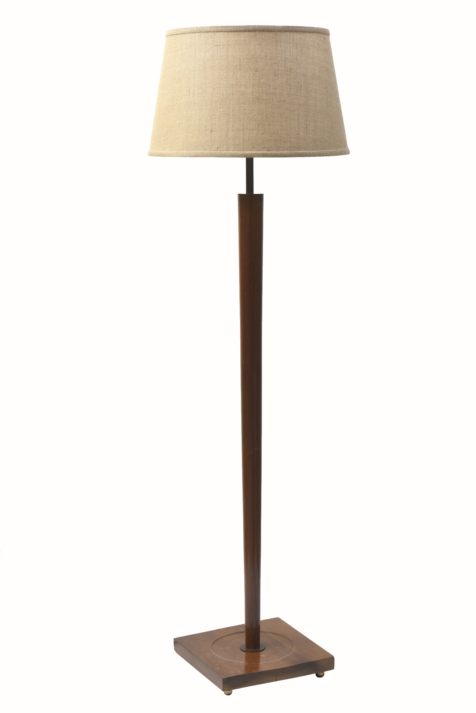Mid Century Wooden Floor Lamp