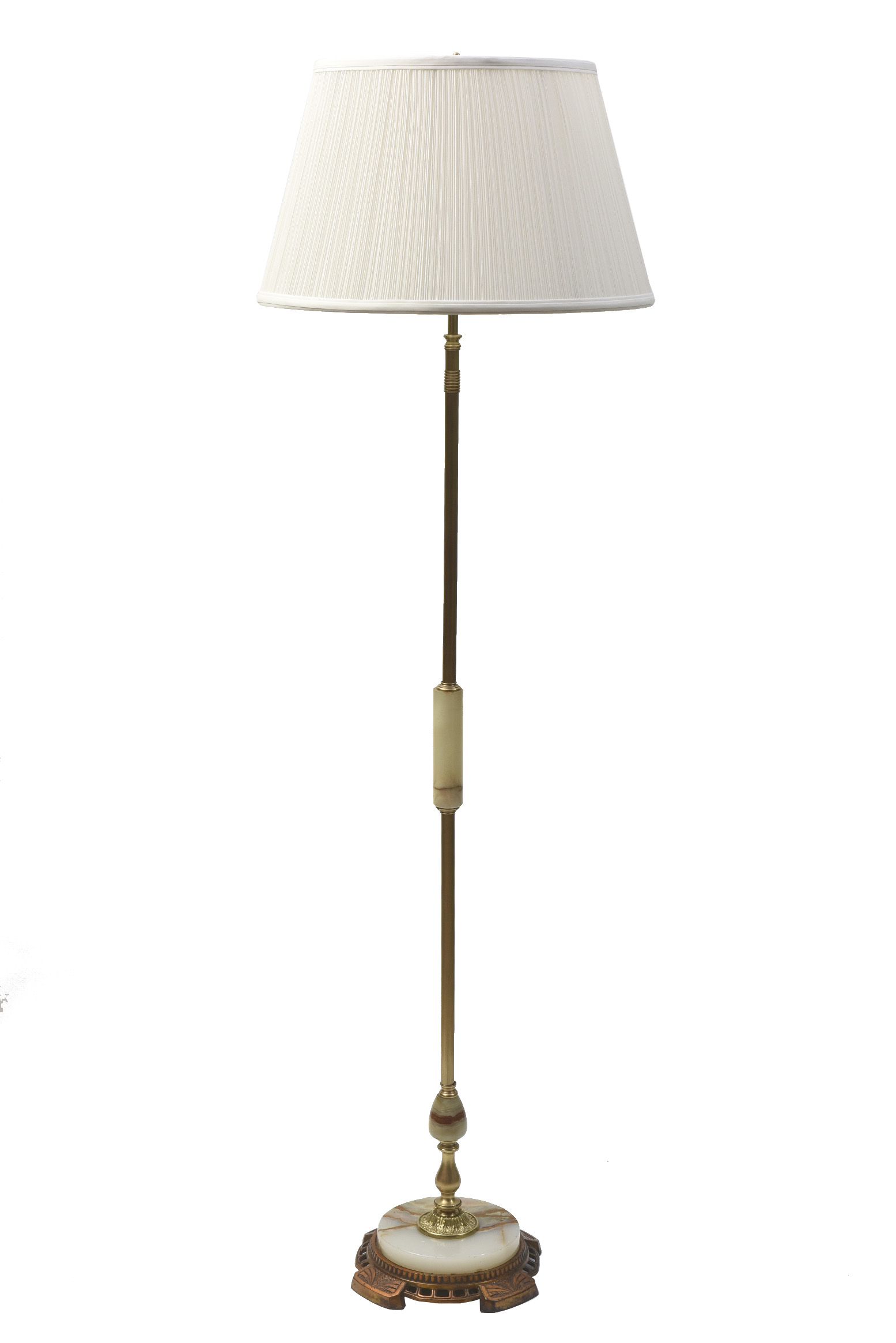Floor Lamp With Onyx Stem And Base Appleton Antique Lighting