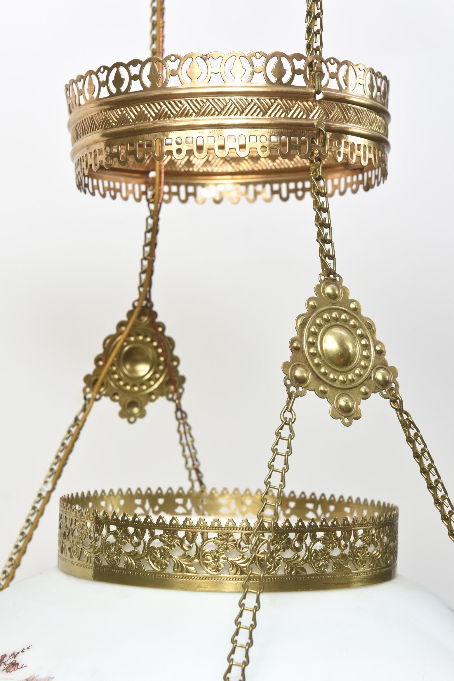 Victorian Hanging Oil Lamp Appleton Antique Lighting