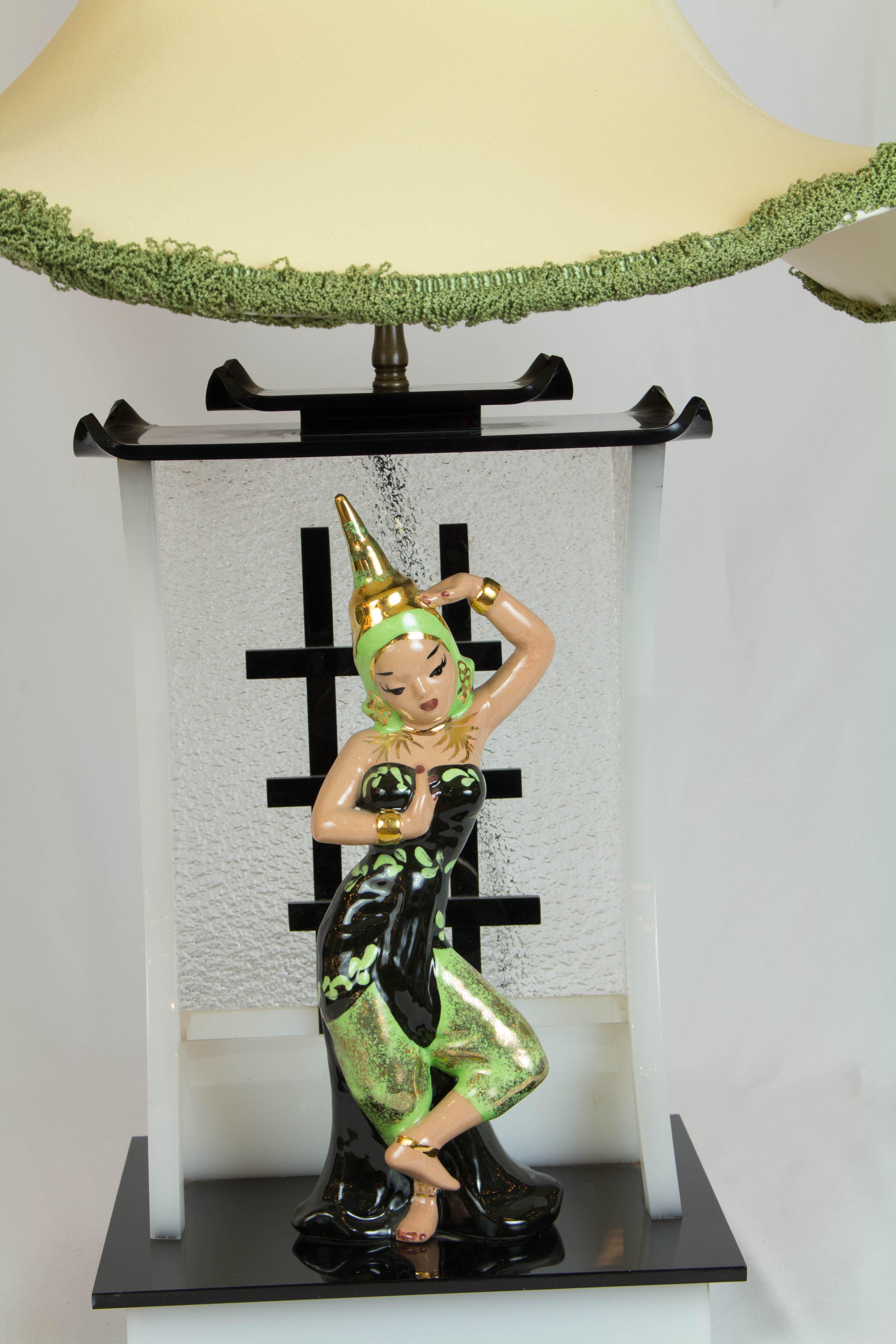 Siamese Dancer Moss Lamp Appleton Antique Lighting