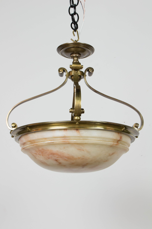 Alabaster semi flush 18 bowl appleton antique lighting homependantsbowl fixtures arubaitofo Gallery