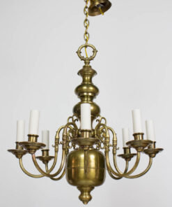 Early 20th Century Eight Arm Dutch Style Chandelier