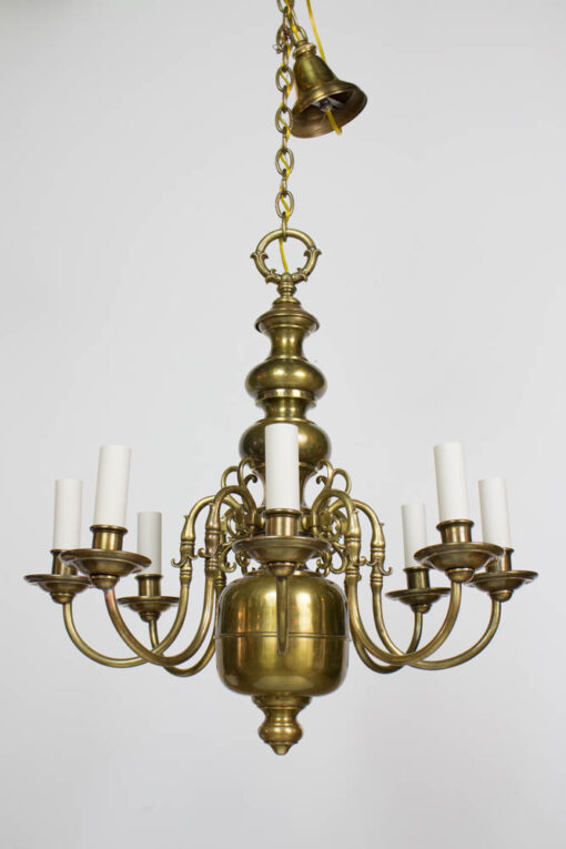 C404 Early 20th Century Eight Arm Dutch Style Chandelier