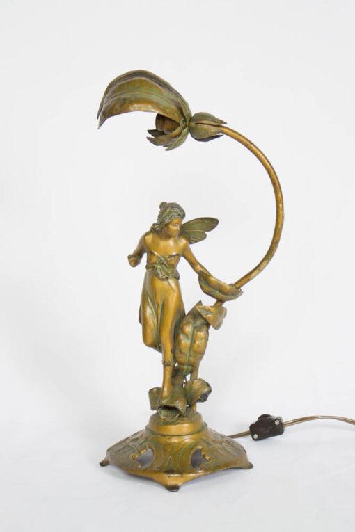 T258 Art Nouveau Fairy Lamp