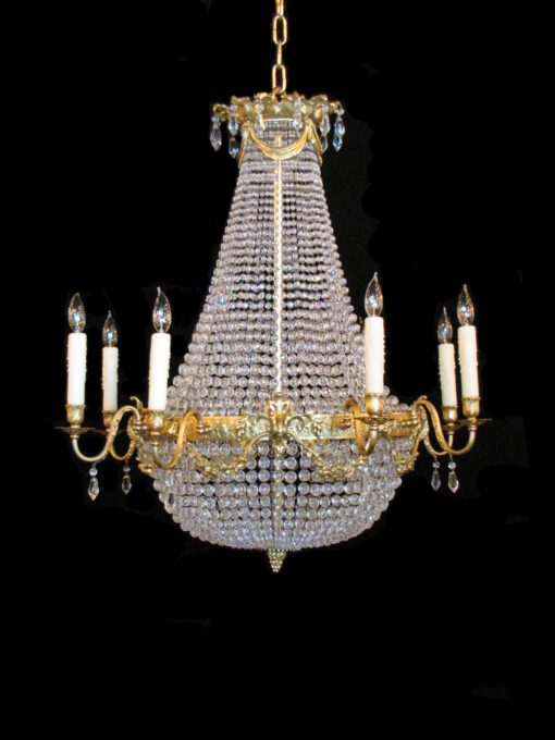 French Empire Basket Chandelier