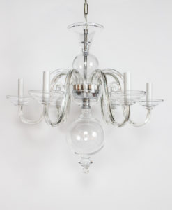C417: Preciosa Clear Glass Chandelier