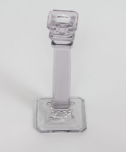 D148: Small Squared Glass Candlestick