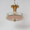 P246: Peach Three Light Semi Flush