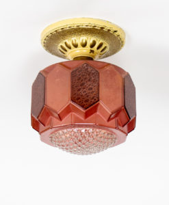 P283: Raspberry Vintage Glass Pendant