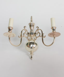 S347: Two Arm Silverplate Sconce