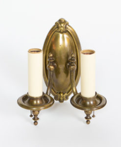 S349: Two Arm Antique Brass Sconce