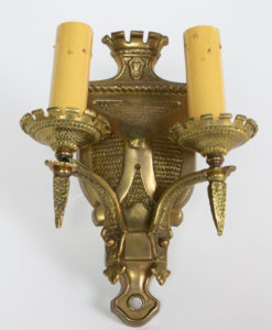 S350: Two Arm Shield Back Sconce