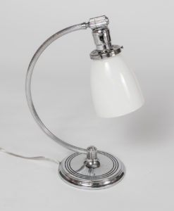 T278: Chase Chrome Desk Lamp With White Shade