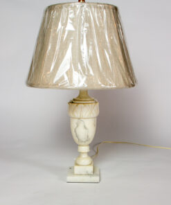 T282: Medium Alabaster Table Lamp with Shade