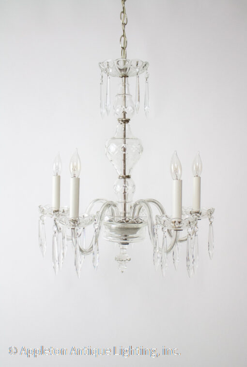 Early 20th Century Crystal Chandelier