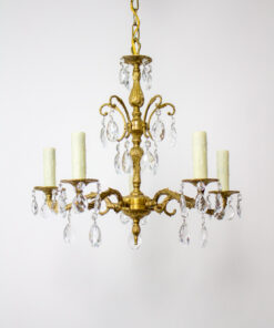 Spanish Brass and Crystal Chandelier