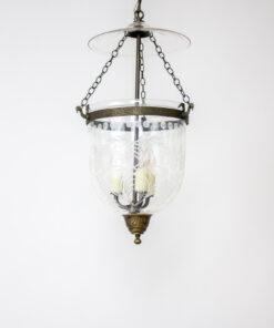 Traditional Foliate Cut Glass Bell Jar Lantern