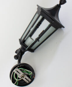Federal Style Black Exterior Lantern Sconces - a pair