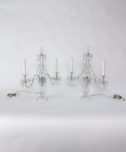 Early 20th Century Crystal Candelabra - a pair